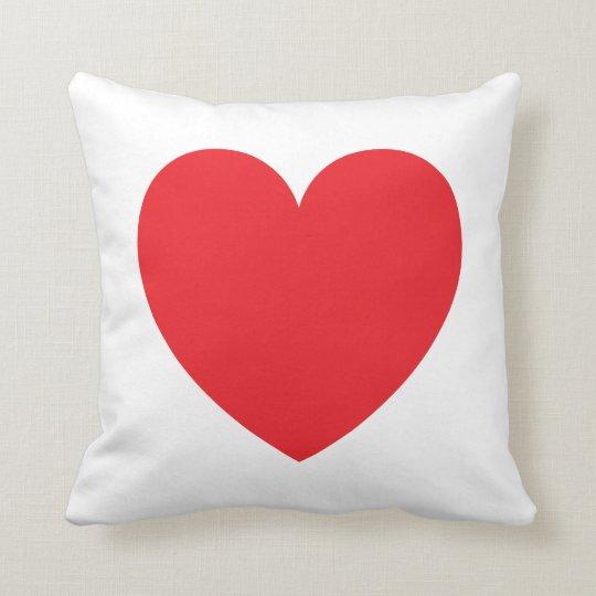 Red heart love custom pillow