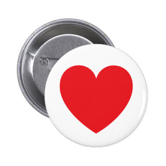 Red heart love or Valentines day Pinback Buttons