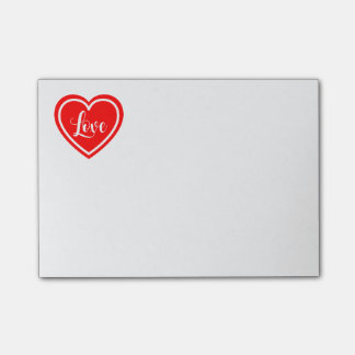 Red Heart Love Post It  - Wedding, Engaged, Bridal Post-it® Notes