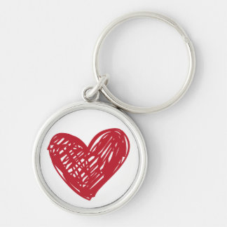Red Heart Love Scribble - Wedding, Engagements Keychain