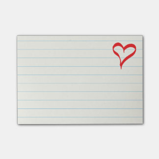 Red Heart Love Wedding, Bridal Showers, Engagement Post-it® Notes