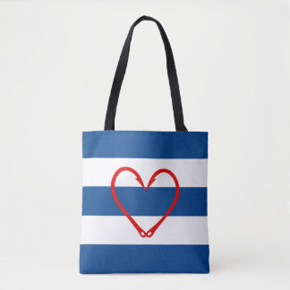 RED HEART NAUTICAL BAG