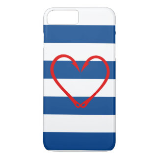 RED HEART NAUTICAL iPHONE CASE