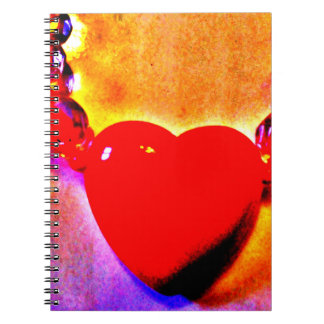 Red Heart Necklace Notebook