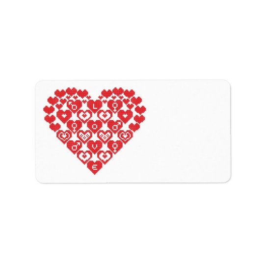 Red HEART of hearts Label