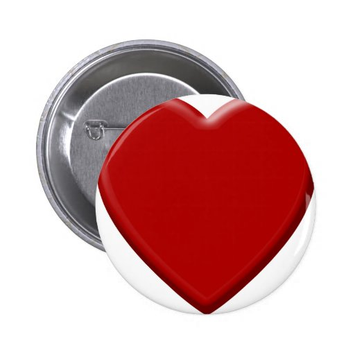 Red heart of love buttons