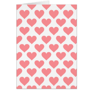 Red Heart Pattern Card