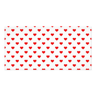 Red Heart Pattern Love Photo Card
