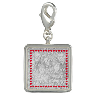 Red Heart Photo Border Photo Charms