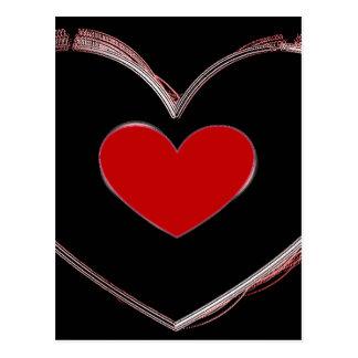 Red Heart Pop Art Love Postcard