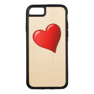 Red Heart Print iPhone Case