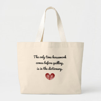 Red Heart Quilling Quote, Jumbo Tote