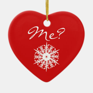 Red Heart Shape Christmas Proposal Decoration Ceramic Heart Ornament