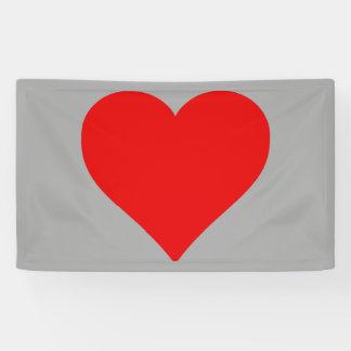 Red Heart Shape Graphic Valentine Love Banner