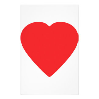 red heart sign stationery