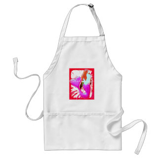 red heart-tail mermaid Thunder_Cove Standard Apron