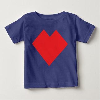 Red heart Tangram Baby T-Shirt