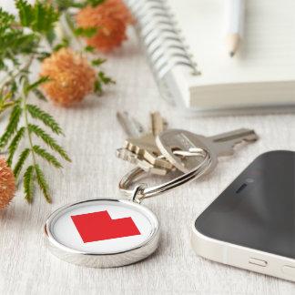 Red heart Tangram Keychain