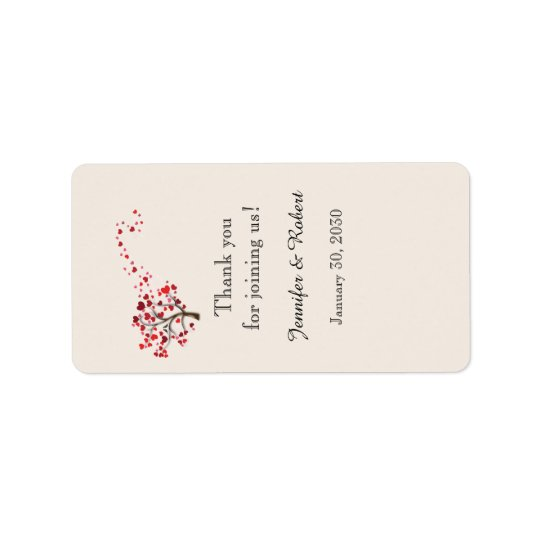 Red Heart Tree on Ivory Lip Balm Label