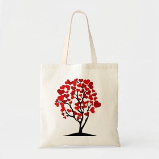 Red Heart Tree Tote Bag