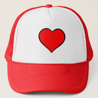 Red Heart Trucker Hat