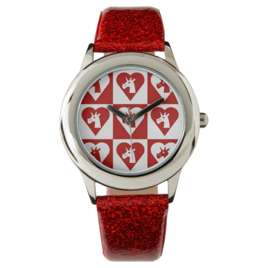 Red Heart Unicorn Watch