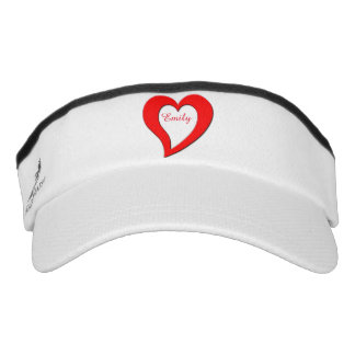 Red heart visor