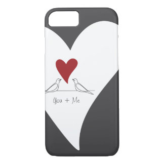 Red Heart White Doves in Love Rustic Modern iPhone 7 Case