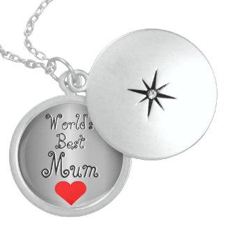 Red Heart World's Best Mum Locket Necklace