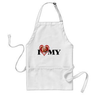 Red Heart Yorkshire Terrier Apron