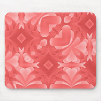Red Hearts and Diamonds Mouse Pad