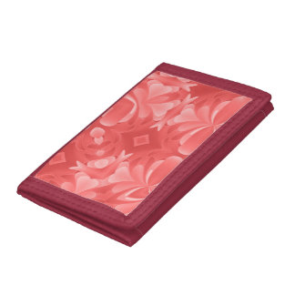 Red Hearts and Diamonds Trifold Wallets