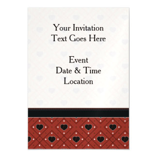 Red Hearts And Dots Plaid Pattern With Border Magnetic Card