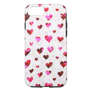 Red Hearts - Apple iPhone 7, Tough Phone Case