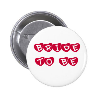 Red Hearts Bride to Be Pins