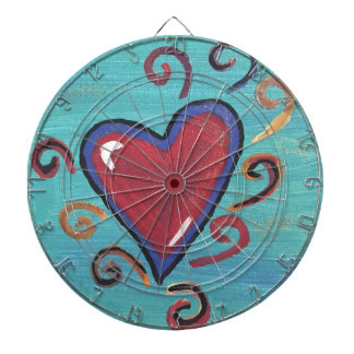 Red Hearts Collection Dartboard