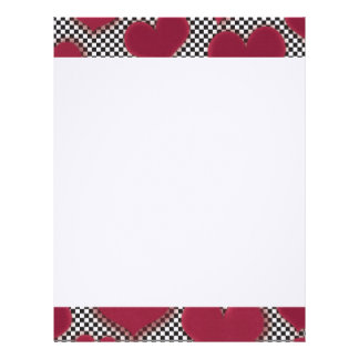 Red Hearts Customized Letterhead