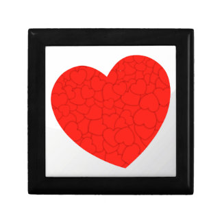Red hearts gift box