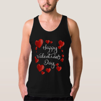 Red Hearts Happy Valentine's Day | Tank Top