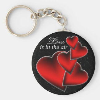Red Hearts Keychain