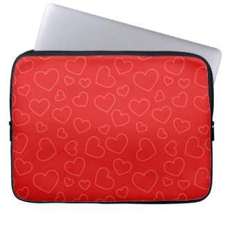 Red Hearts Laptop Sleeve