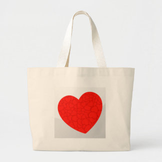 Red hearts large tote bag