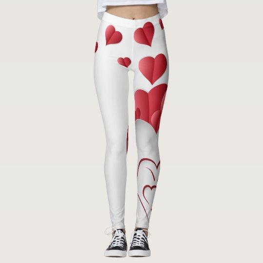Red Hearts Leggings