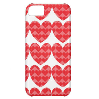Red hearts love case iPhone 5C cover