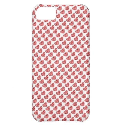 Red hearts love case iPhone 5C case