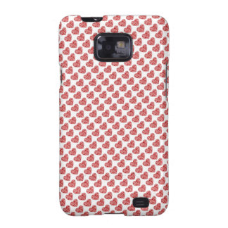 Red hearts love case galaxy s2 cover