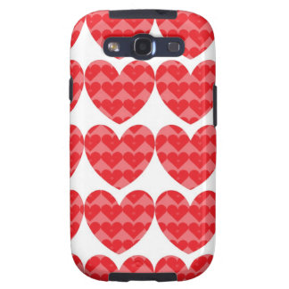 Red hearts love case samsung galaxy s3 covers