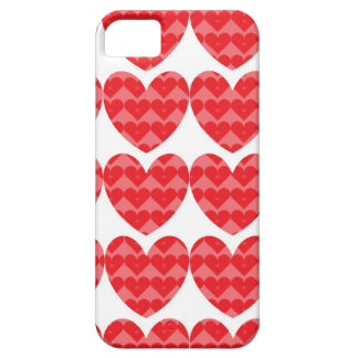 Red hearts love case iPhone 5 covers