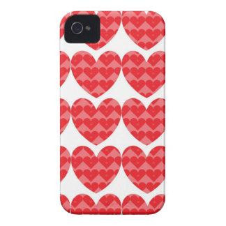 Red hearts love case iPhone 4 Case-Mate case