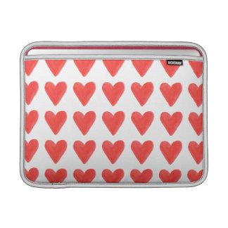 Red Hearts - Macbook Air Sleeve